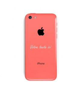 Coque Iphone 5C personnalisee texte blanc