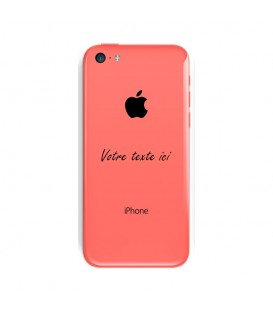 Coque Iphone 5C personnalisee texte noir