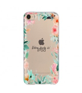 Coque Ipod touch 5 touch 6 Fleur 15 personnalisee pastem Transparente