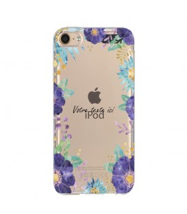 Coque Ipod touch 5 touch 6 Fleur 15 Violet personnalisee Transparente