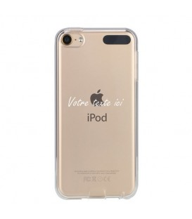 Coque Ipod touch 5 touch 6 personnalisee texte blanc