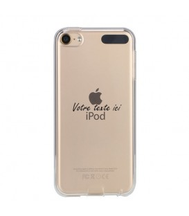 Coque Ipod touch 5 touch 6 personnalisee texte noir