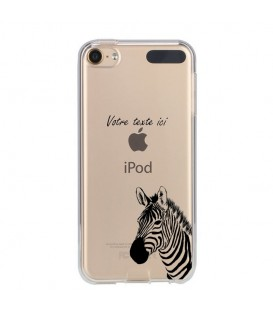 Coque Ipod touch 5 touch 6 zebre personnalisee transparente