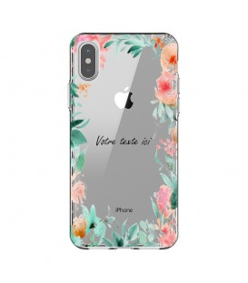 Coque Iphone XR Fleur 15 personnalisee pastem Transparente