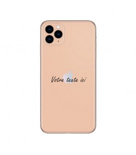 Coque Iphone 11 PRO personnalisee texte noir