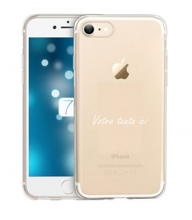 Coque Iphone 7 8 personnalisee texte blanc