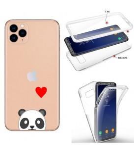 Coque iphone 11 PRO integrale panda emojii coeur