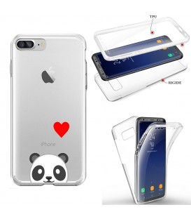 Coque Iphone 6 PLUS integrale panda emojii coeur