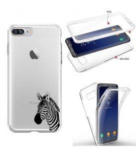 Coque Iphone 6 PLUS integrale zebre wild jungle raye transparente