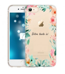 Coque Iphone 7 PLUS 8 PLUS Fleur 15 personnalisee pastem Transparente