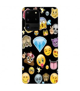 Coque Galaxy S20 ULTRA emojii multi smiley emoticone