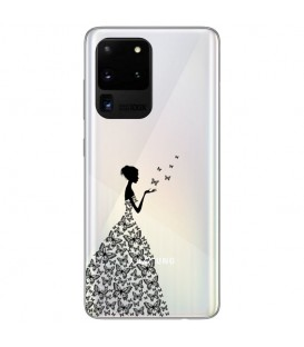 Coque Galaxy S20 ULTRA fee papillon noir