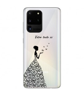Coque Galaxy S20 ULTRA fee personnalisee papillon noir