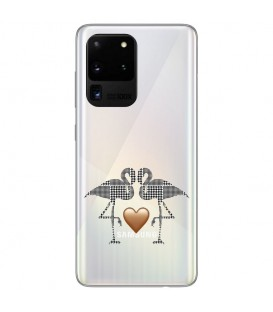 Coque Galaxy S20 ULTRA flamant coeur