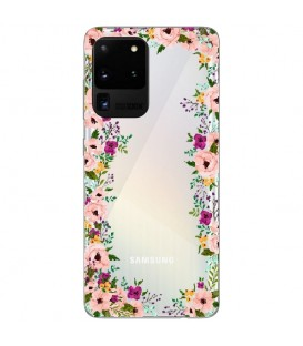 Coque Galaxy S20 ULTRA Fleur 14 liberty rose transparent