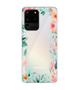 Coque Galaxy S20 ULTRA Fleur 15 Pastel Tropical Transparente