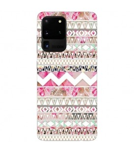 Coque Galaxy S20 ULTRA Fleur aztec chevron tribal shabby rose