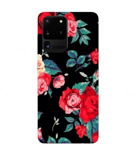 Coque Galaxy S20 ULTRA Fleur Rose Rouge vintage