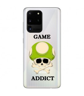Coque Galaxy S20 ULTRA game over tete de mort geek transparente