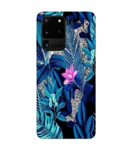 Coque Galaxy S20 ULTRA tropical fleur rose exotique