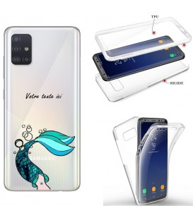 Coque Galaxy S20 PLUS integrale sirene mermaid bleu personnalisee