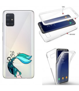 Coque Galaxy S20 PLUS integrale sirene mermaid bleu transparente