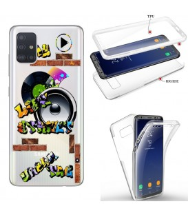 Coque Galaxy S20 PLUS integrale tag graffiti urban transparente