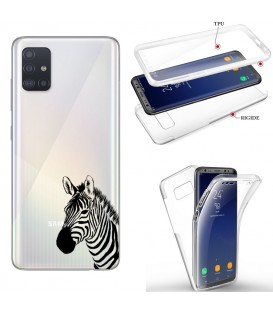 Coque Galaxy S20 integrale zebre wild jungle raye transparente
