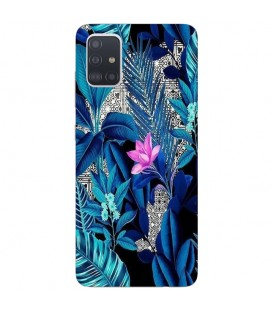 Coque Galaxy A41 tropical fleur rose exotique
