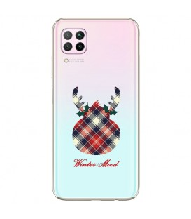 Coque P40 LITE winter mood tartan