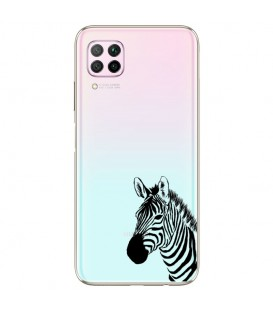Coque P40 LITE zebre wild jungle raye transparente