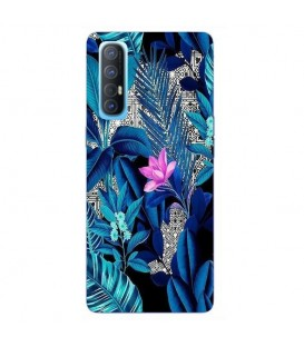 Coque OPPO Find X2 NEO tropical fleur rose exotique