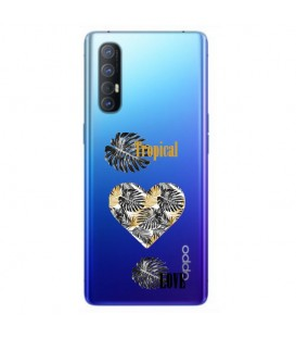 Coque OPPO Find X2 NEO tropical love coeur transparente