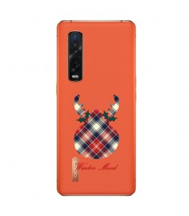 Coque OPPO Find X2 PRO winter mood tartan