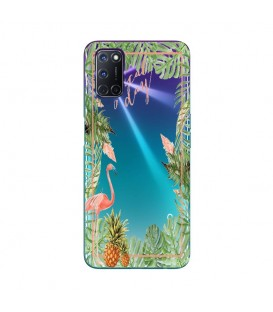 Coque OPPO A72 Tropical day Flamant Ananas summer Exotique fleur