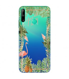 Coque Y6P Tropical day Flamant Ananas summer Exotique fleur