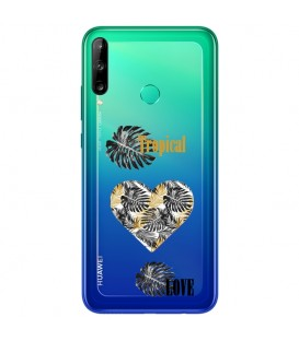 Coque Y6P tropical love coeur transparente