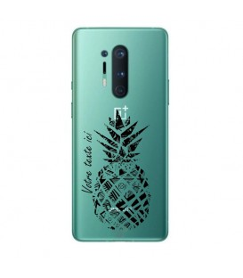 Coque ONEPLUS 8 PRO ananas noir personnalisee