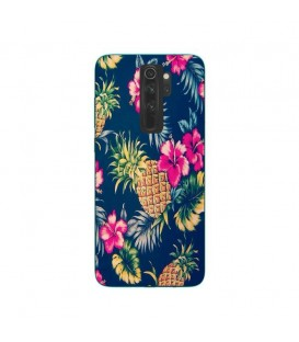 Coque Redmi 9 Ananas Fleur rose Tropical Exotique