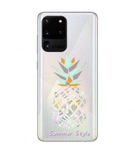 Coque Galaxy NOTE 20 ananas aztec tropical exotique