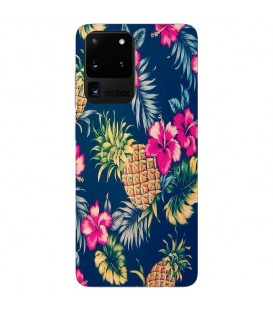 Coque Galaxy NOTE 20 Ananas Fleur rose Tropical Exotique