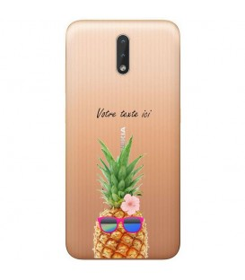 Coque Nokia 2.3 ananas lunettes personnalisee fleur