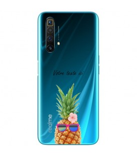 Coque Realme X3 Super Zoom ananas lunettes personnalisee fleur