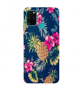 Coque Honor 9A Ananas Fleur rose Tropical Exotique