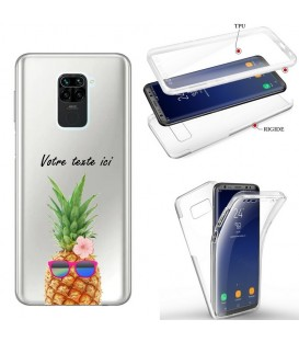 Coque Redmi NOTE 9 integrale ananas lunettes personnalisee tropical