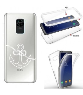 Coque Redmi NOTE 9 integrale ancre blanc transparente