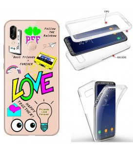 Coque P40 LITE E integrale BAE love tag BFF best friends transparente