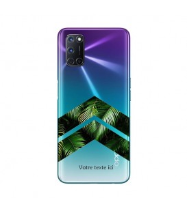 Coque OPPO A72 chevron jungle personnalisee