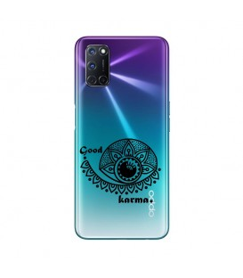 Coque OPPO A72 karma good vibes noir personnalisee