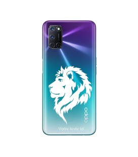 Coque OPPO A72 lion blanc personnalisee
